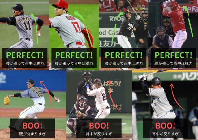 野球の良いフォーム