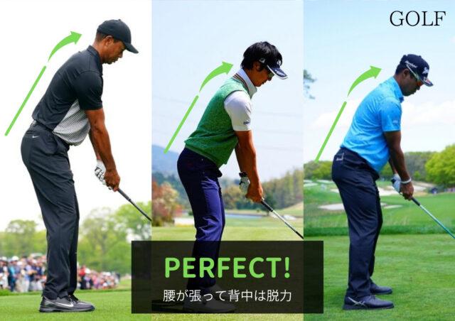 ゴルフの良いフォーム