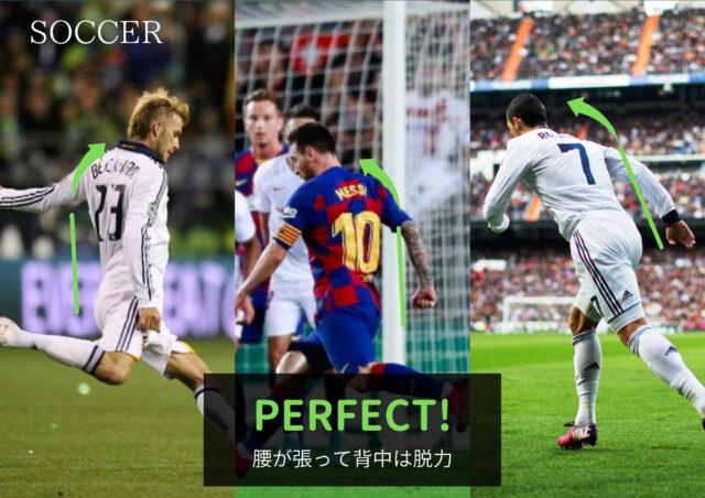 サッカーの良いフォーム